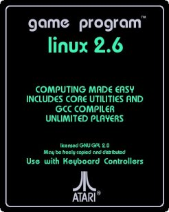 If Linux were an Atari game, the cartridge would look like this.
