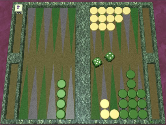 GNU Backgammon example game 4