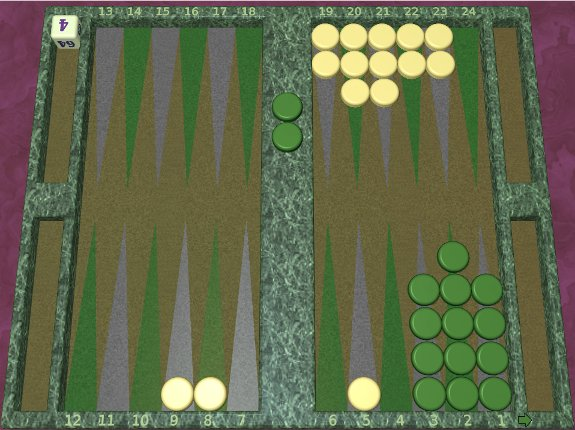 GNU Backgammon example game 8