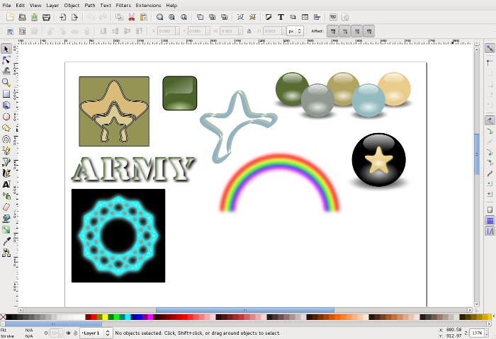 doodles in Inkscape