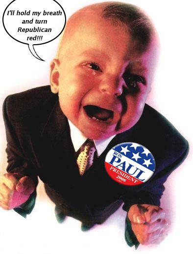 Ron Paul crying baby