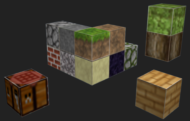 Minecraft Blender block render test