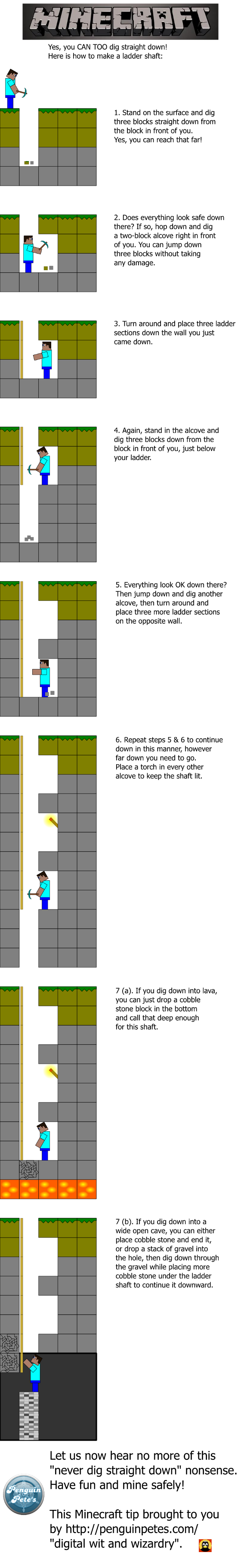 a tutorial on a technique in Minecraft