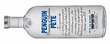 Penguin Pete vodka bottle